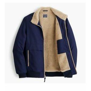 Jcrew Windbreaker Sherpa Jacket